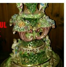 Original Capodimonte Italian Fruit/Flower cherub lamp