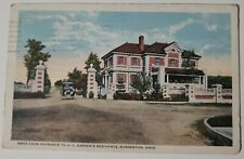 Vintage Postcard O.C.Barbers Mansion Anna Dean Entrance Barberton Ohio