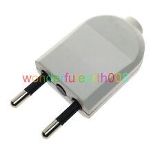 2 x Europe Plug EU Type C 4mm Pin Rewireable Power Plug Max AC 250V 10A