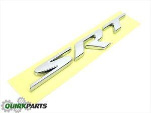 DODGE CHARGER CHALLENGER VIPER 300 SRT SRT8 CHROME EMBLEM NAMEPLATE OEM MOPAR