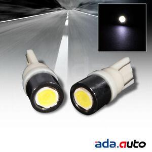 WHITE 168/194/2825/T10 LED REAR LICENSE PLATE LIGHT/CITY LIGHT BULB PAIR