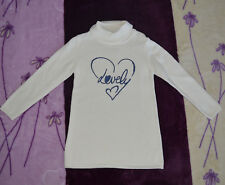 Mädchen Pullover Sweatshirt Groß 122 Weiß Farbe Neu