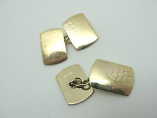 VINTAGE SOLID 375 YELLOW GOLD ART DECO CUFFLINKS by Henry Griffith and Sons