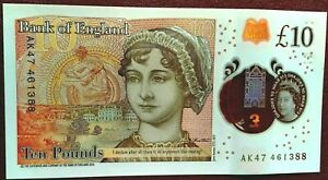 BRAND NEW 2017 £10 BANKNOTES-(B415) POLYMER*AK47* NOTES X1 UNC