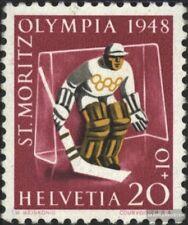 Suisse 494 neuf avec gomme originale 1948 Jeux Olympiques Jeux d'hiver