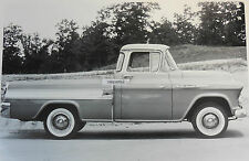 "1957 Chevrolet Cameo side view 12 X 18"" Black & White Picture"
