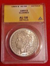 1889 $1 Morgan Silver Dollar AU58