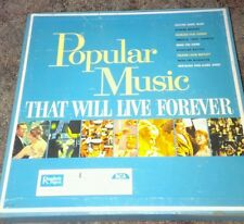 Popular Music That will live Forever. 10 Record box set