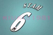 Manchester United Stam #6 PREMIER LEAGUE 97-06 White Name/Number Set