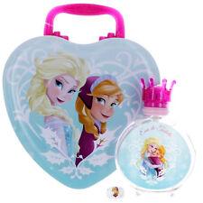 Frozen for Girls by Disney EDT Spray 3.4 oz + Ring + Metal Lunch Box - Gift Set