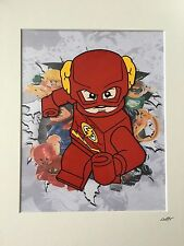 Lego - DC Comics - The Flash - Hand Drawn & Hand Painted Cel