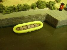 OO Model Railway. small rubber dinghy.  x 5  resin models.
