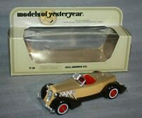 MATCHBOX MODELS OF YESTERYEAR Y-19 1935 AUBURN 851 Brown/Yellow Mint