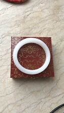 Auth white jade Bangle with box, size 60 cm inner circle please see the pics