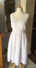 Sainsburys TU White Broderie Anglaise Cotton Sun Dress UK 14