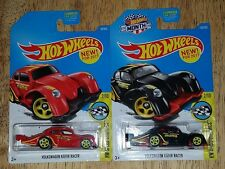 2017 Hot Wheels VOLKSWAGEN KAFER RACER Red and Black  Variation  New Lot of 2