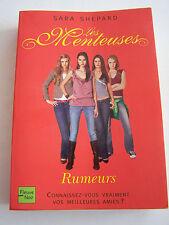 ROMAN  , SERIE LES MENTEUSES N° 3 , RUMEURS . 304 PAGES  . TRES BON ETAT .