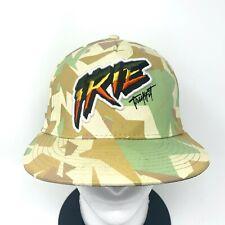 TRUKFIT Mens Embroidered IRIE Logo Strapback Baseball Hat Green Khaki Beige Camo