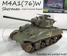 WW2 M4A1(76) W sherman tank Israel Armored Brigade diecast 1/72 Easy model