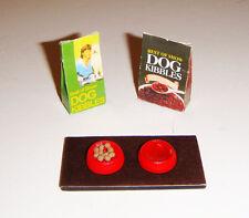 Barbie Doll Sized Accessories Miniature Dog Food Station For Barbie Diorama dm02