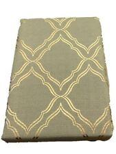 Luna Lattice Golden Scroll Fabric Christmas Shower Curtain Holiday Bath
