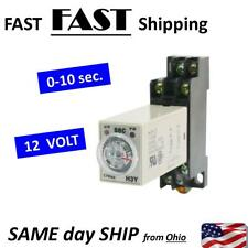12VDC 12V DC - timer relay 0 1 2 3 4 5 6 7 8 9 seconds 12 VOLT Relay