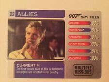 Current M #22 Allies - 007 James Bond Spy Files Card