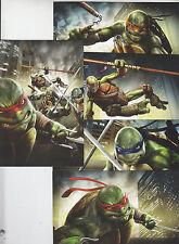 2013 Sdcc Exclusivo IDW las Tortugas Ninja Tmnt Promo Carta Set de 5