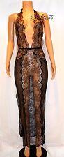 $398.00 Victoria's Secret Designer Collection Lace & Silk Slip gown sz L black