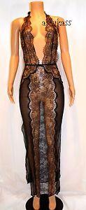 $398.00 Victoria's Secret Designer Collection Lace & Silk Slip gown sz S black