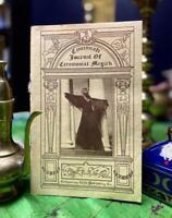 1976 Cincinnati Journal Ceremonial Magick 1 CROWLEY THELEMA OCCULT Magic Vintage