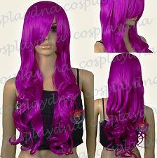 33 inch Hi_Temp Series Magenta Purple Curly Wavy Long Cosplay DNA Wigs 967PTH