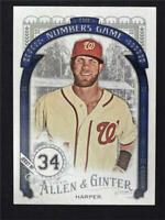 2016 Topps Allen and Ginter The Numbers Game #NG94 Bryce Harper - NM-MT