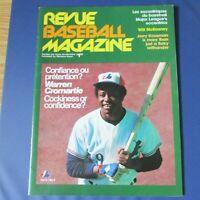 MONTREAL EXPOS 1977 program vol 9 no 3 Warren Cromartie Cover GARY CARTER center