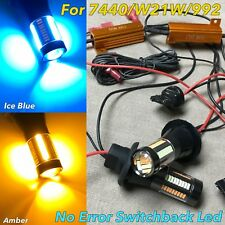 NO ERROR Switchback 66 LED Front Turn Signal BLUE AMBER T20 7440 W21W 992 W1 JAE