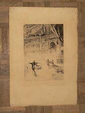 Gravure Eau Forte La Fin de L'Acte OPERA Mitchell  1878 L'ART