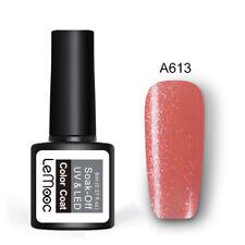 8ml LEMOOC Nail UV Gel Polish Soak off Nail Art Pure Color Glitter Sequins Gel
