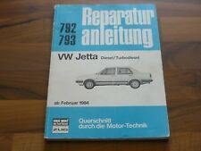 VW JETTA II Diesel TD 1984- Motor Getriebe Fahrwerk Elektrik WERKSTATT HANDBUCH