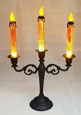 """Halloween Candelabra Orange Large Light Candle Orange Decor LED Window Wall 16"""""""