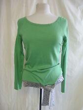 Femmes pull-Apart, taille 14, vert/gris/paillettes, 5% cachemire, soie mix 0013