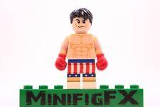 Lego ROCKY BALBOA Custom Machine Printed Minifig Italian Stallion Boxer Boxing