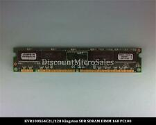 Kingston KVR100X64C2L/128 SDRAM 128MB PC-100 Non ECC 100Mhz RAM Memory