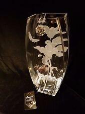 Valentines day gift Vase  with Swarovski Crystal & Sandblasted Gift present