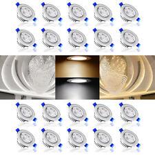 20x 3W 230V LED Spot Encastrable Plafond Plafonnier éclairage Orientable Ampoule