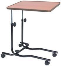 Adjustable Overbed Table Tray Bed Tilt Hospital Medical Tables Wheel Bedside NEW