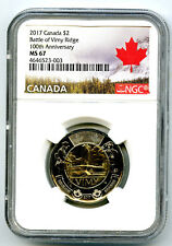 2017 CANADA $2 NGC MS67 BATTLE OF VIMY RIDGE 100TH ANNIVERSARY HIGH GRADE TOONIE