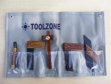 6pc Mini Juego de herramientas de madera carpintería Plaza Mitre try marcado Calibre Bisel Dove