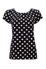 Spotted Casual Blouse Plus Size for Women