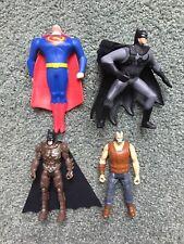 Marvel & DC Comics Super Hero Squad Figures Lot of 4 Toys Batman, Superman...