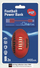 AFL Sherrin Rechargeable Phone Charger Powerbank Essendon--DUAL USB,4400 mAh